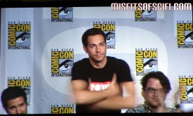 Chuck Panel - Zachary Levi stands for his introduction