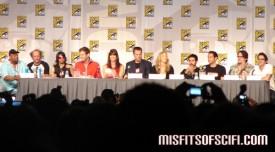 Chuck Panel - whole cast, Chris Fedak & Josh Schwartz