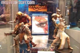 God of War statues at DC Booth