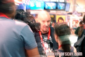 Grant Morrison being interviewed at DC Booth