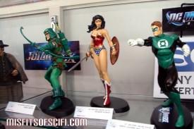 Green Arrow, Wonder Woman & Green Lantern DC Universe Online statues