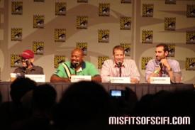 Human Target Panel - Jackie Earle Haley, Chi McBride, Mark Valley & showrunner Matthew Miller 3