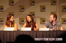 Nikita Panel - Maggie Q talks about THE bathing suit as Lyndsy Fonseca & Executive Producer-Writer Craig Silverstein look on