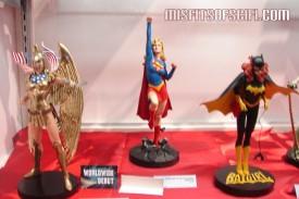 Slightly blurry but still awesome Armored Wonder Woman, Supergirl & Barbara Gordon as Batgirl