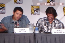 Supernatural Panel - Misha Collins does Russian accent as Jared Padalecki laughs
