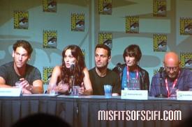 Walking Dead Panel - Emma Bell, Laurie Holden, Jon Bernthal, Sarah Wanye Callis, Andrew Lincoln, Frank Darabont 2