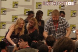 Walking Dead Panel - Zombies invade as Emma Bell & creator Robert Kirkman sign autographs