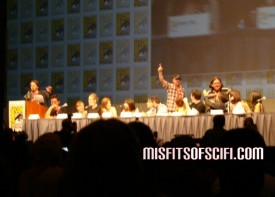 scott pilgrim panel - nick frost & simon pegg pop up