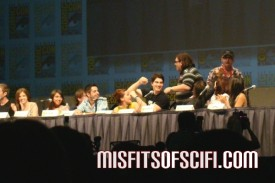 scott pilgrim panel - nick frost & simon pegg surprisse visit
