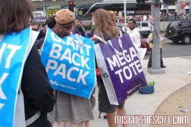 syfy giant backpack vs megatote bags