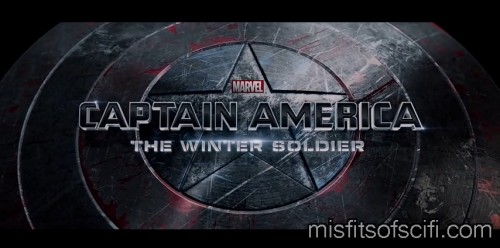 Cap's Damaged Shield in the Title Card
