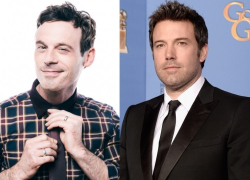 Scoot McNairy Verge Photo by Jeff Vespa; Ben Affleck at the 2014 Golden Globe Awards