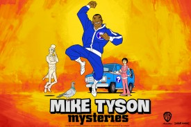 MIKE TYSON MYSTERIES (L-R) Marquess, Pigeon, Mike Tyson and Yung Hee form the Mike Tyson Mystery team in Warner Bros. Animation's Mike Tyson Mysteries, a brand new adult comedy series coming to Adult Swim this fall. (Photo Credit: © Warner Bros. Entertainment Inc. All Rights Reserved.)