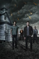 SUPERNATURAL (L-R) Jared Padalecki, Mark A. Sheppard, Jensen Ackles and Misha Collins star in Warner Bros. Television's Supernatural, returning for its 10th season Tuesdays at 9/8c this fall on The CW. (Photo Credit: © Warner Bros. Entertainment Inc. All Rights Reserved.)