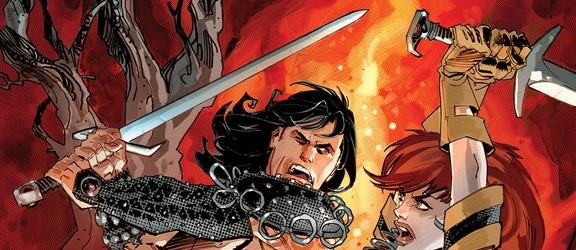 The good people at Dark Horse are delivering a one-two sword-and-sorcery punch with this classic character team up.